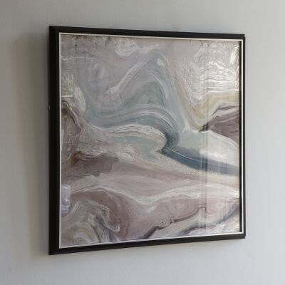 Crystal Fluid Abstract Framed Wall Art, 74cm