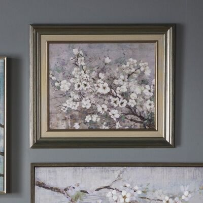 Blue Sakura Framed Wall Art, 50cm