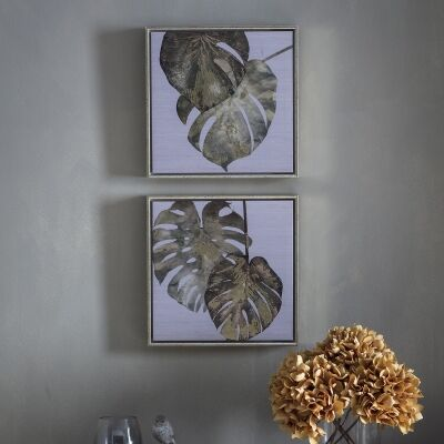 Tropical Monstera 2 Piece Framed Wall Art Set