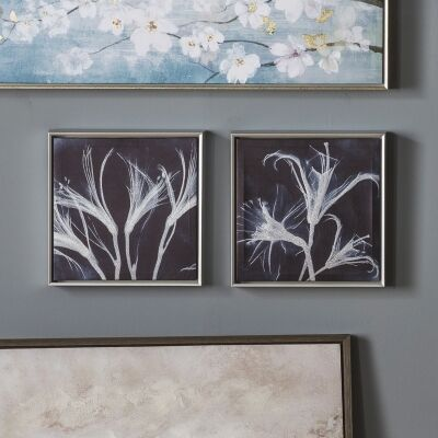 Indigo Floral 2 Piece Framed Wall Art Set