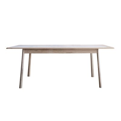 Wycombe Oak Timber Extendable Dining Table, 200cm