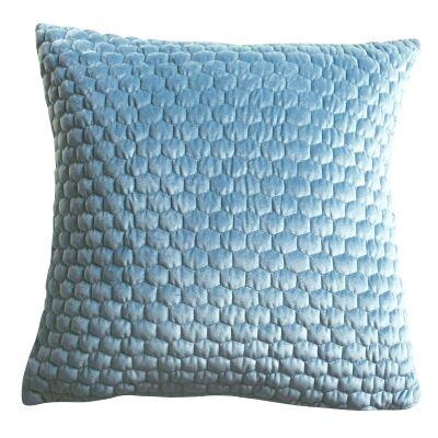 Landseer Feather Filled Scatter Cushion, Duck Egg Blue