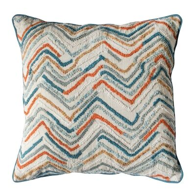 Tangier Feather Filled Scatter Cushion, Teal / Orange