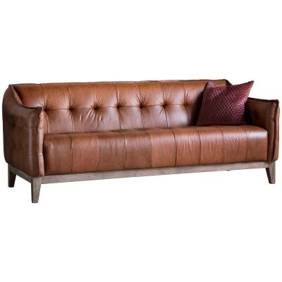 Ecclestone Vintage Leather 3 Seater Sofa
