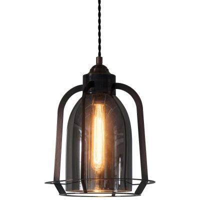 Aykley Metal & Glass Pendant Light