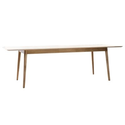 Maja Oak Timber Extendable Dining Table, 200-250cm