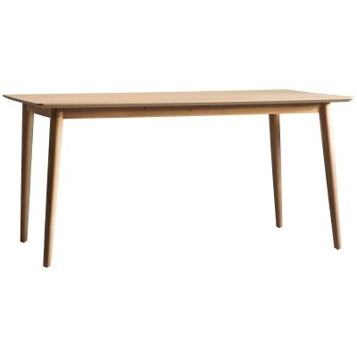 Maja Oak Timber Dining Table, 160cm