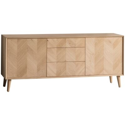 Maja Oak Timber 2 Door 3 Drawer Sideboard, 160cm