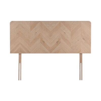 Milano Oak Timber Bed Headboard, Queen
