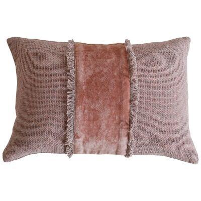 Amariss Cotton Lumbar Cushion, Blush