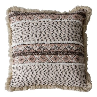 Mia Feather Filled Embroidered Cotton Scatter Cushion