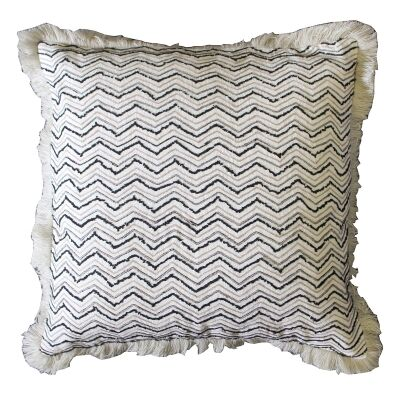 Gino Feather Filled Embroidered Cotton Scatter Cushion