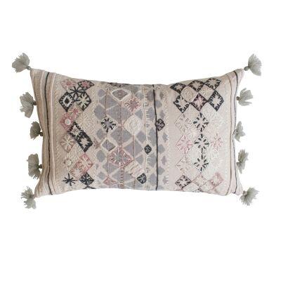 Nila Feather Filled Cotton Lumbar Cushion
