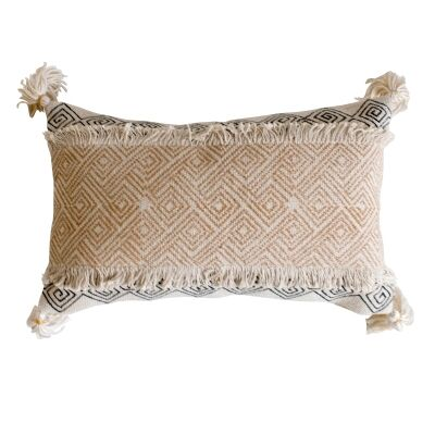 Holly Feather Filled Cotton Lumbar Cushion