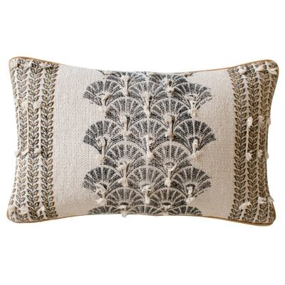 Shyla Feather Filled Cotton Lumbar Cushion