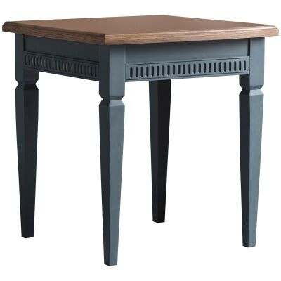 Bronte Storm Mahogany Timber Side Table