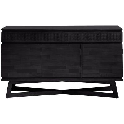 Baila Boutique Mango Wood 3 Door 2 Drawer Sideboard, 140cm