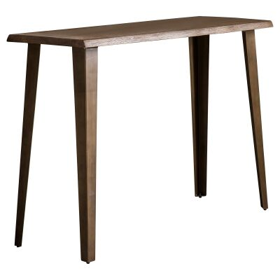 Foundry Oak Timber & Metal Console Table, 110cm