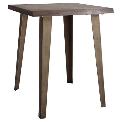Fabia Oak Timber & Metal Side Table