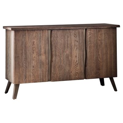 Fabia Oak Timber & Metal 3 Door Sideboard, 132cm