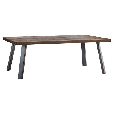 Camden Rustic Acacia Timber & Metal Coffee Table, 110cm