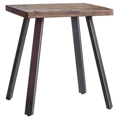 Camden Rustic Acacia Timber & Metal Side Table