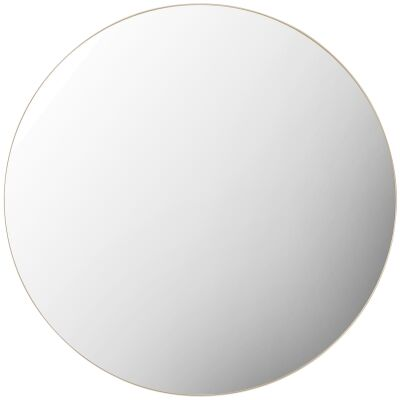 Hayle Metal Frame Round Wall Mirror, 100cm, Champagne