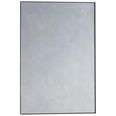 Hurston Metal Frame Wall Mirror, 90cm, Black