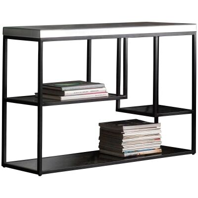 Pippard Mirror & Metal Console Table, 120cm, Black