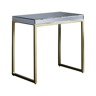 Parker Mirror & Metal Side Table, Champagne