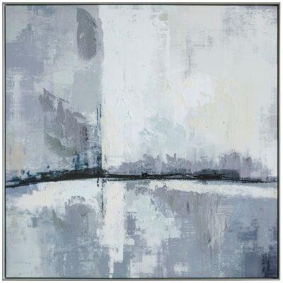 Urban City Skyline Framed Giclee Canvas Wall Art Print, 100cm