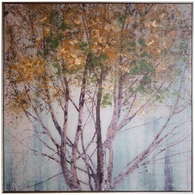 Golden Forest Framed Giclee Canvas Wall Art Print, 90cm