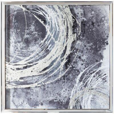 Cyclone I Mirror Framed Wall Art Print, 70cm