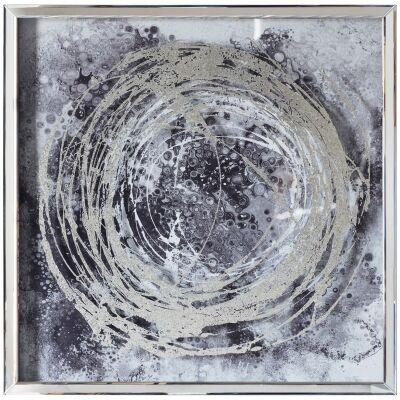 Cyclone II Mirror Framed Wall Art Print, 70cm