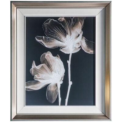 Negative Floral Framed Wall Art Print, 65cm
