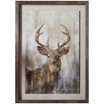 Highland Stag Framed Wall Art Print, 74cm