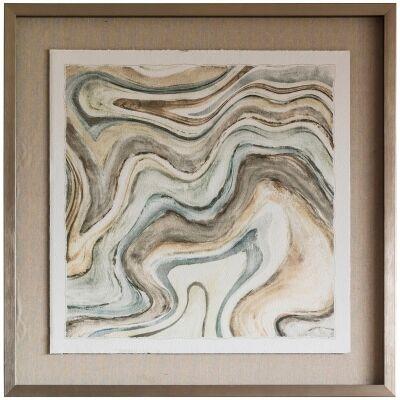 Desert Ocean Framed Wall Art Print, 76cm