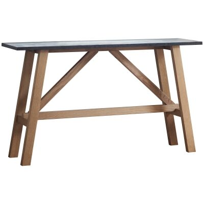 Bevie Resin & Oak Timber Console Table