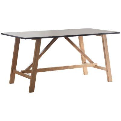 Brixton Resin & Oak Timber Dining Table, 160cm