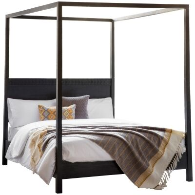 Baila Boutique Mango Wood 4 Poster Bed, King