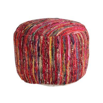 Diaz Cotton Chindi Round Pouffe