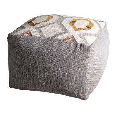 Maisy Cotton Square Pouffe