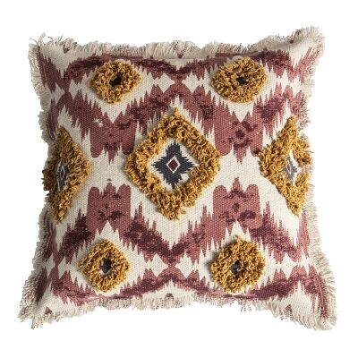 Nicole Embroidered Cotton Scatter Cushion