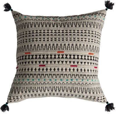 Matty Embroidered Cotton Scatter Cushion