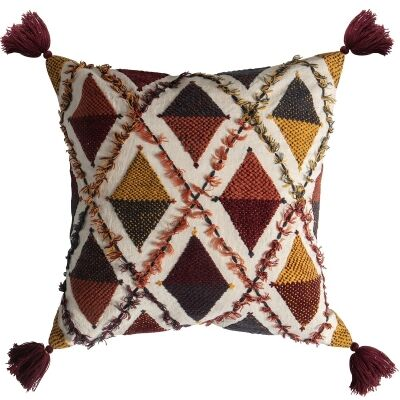 Pablo Embroidered Cotton Scatter Cushion