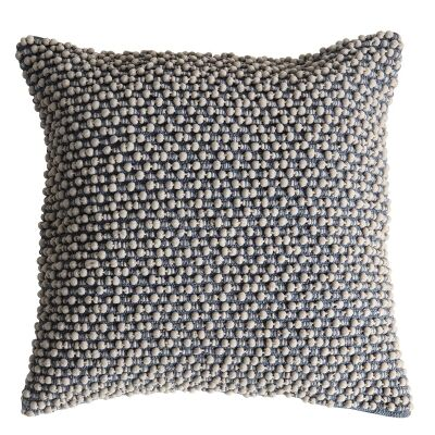 Conor Cotton Patsy Scatter Cushion, Ivory / Slate