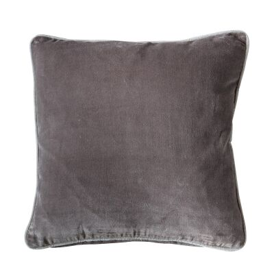 Eliza Feather Filled Velvet Scatter Cushion, Taupe