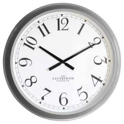 Scratti Metal Round Wall Clock, 68cm, Grey