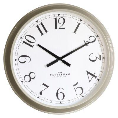 Scratti Metal Round Wall Clock, 68cm, Taupe
