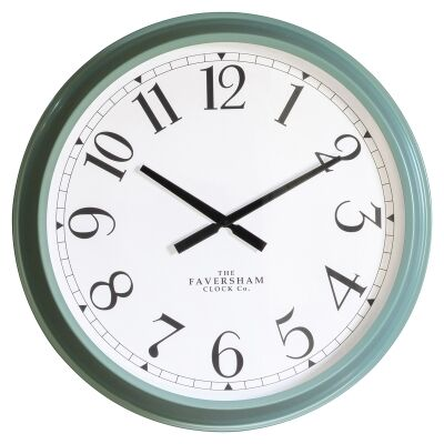 Scratti Metal Round Wall Clock, 68cm, Turquoise